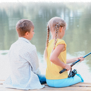 Kids fishing